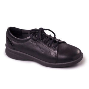 Ladies Shoe - Padders Refresh Black Shoe