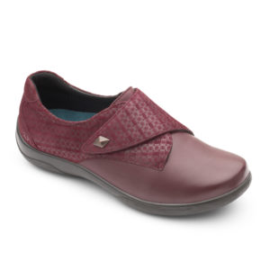 Ladies Shoe - Padders Viola Plum Combi Shoe