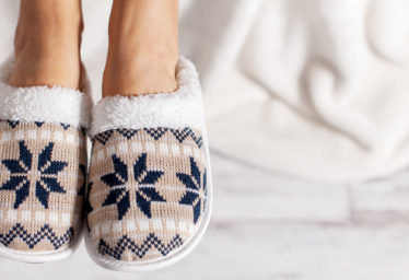 Bedroom Snowflake Slippers Small