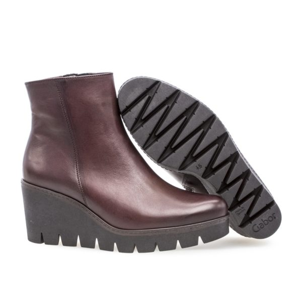 Ladies Boot - Gabor Utopia Leather Burgundy Boot