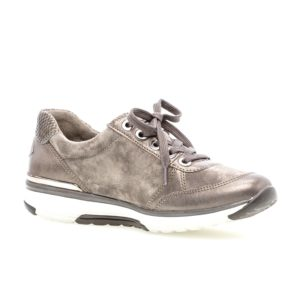 Ladies Casual Shoe - Gabor Rolling Soft Bronze Gold Henshaw Trainer