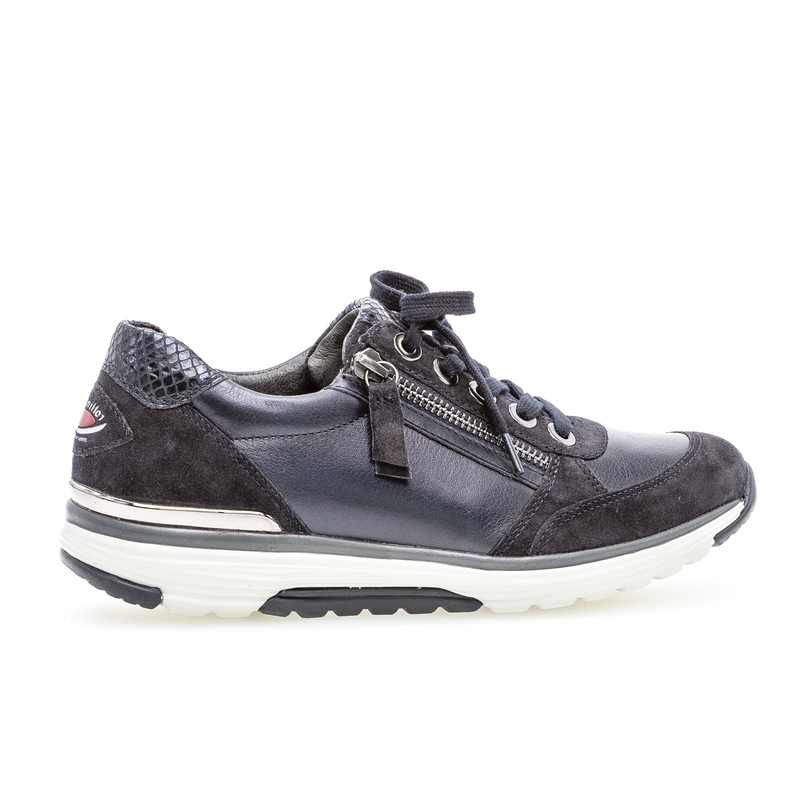 Ladies Casual Shoe - Gabor Rolling Soft Navy Henshaw Trainer