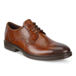 Mens Shoe - ECCO Lisbon Cognac brown lace up dress shoe