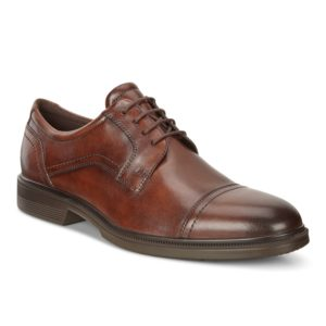 Mens Shoe - ECCO Lisbon Brown lace up dress shoe