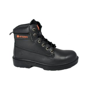 Work Boot - ET Safety Black 10006 Lace up Work Boot - side view