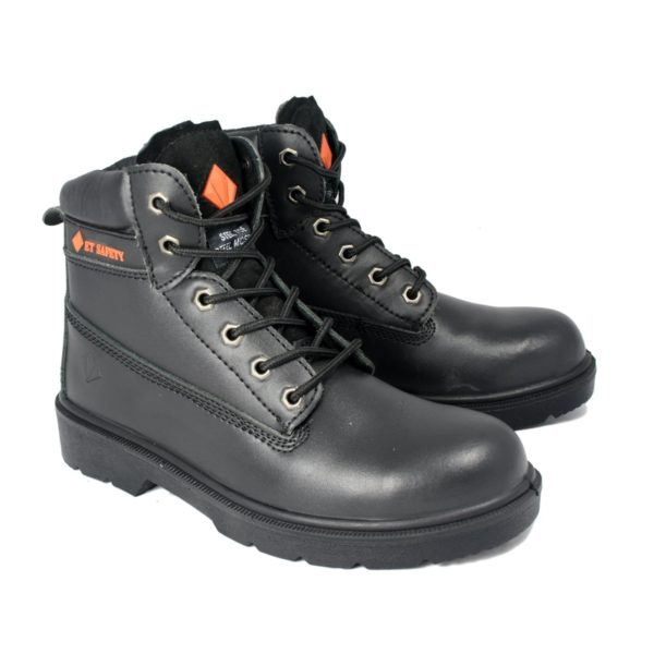 Work Boot - ET Safety Black 10006 Lace up Work Boot - pair
