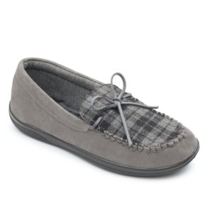 Mens Slipper - Lounge Grey Combi Padders Slipper - front view