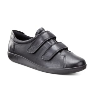 20651356723 Double Strap Black Shoe ECCO