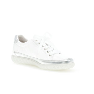 Gabor Amulet White Silver Trim Casual Shoe Front RS - 4645860