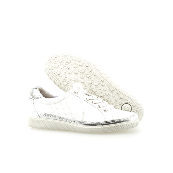 Gabor Amulet White Silver Trim Casual Shoe Pair 2RS - 4645860