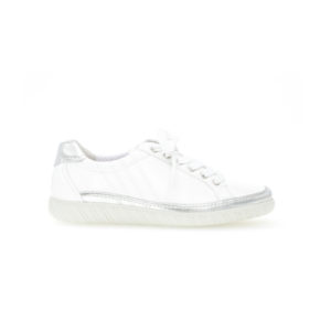 Gabor Amulet White Silver Trim Casual Shoe Side RS - 4645860