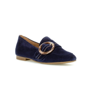 Gabor Bluette Navy Slip On Pump Casual Shoe Front RS - 4421216