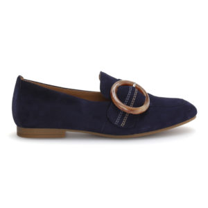 Gabor Bluette Navy Slip On Pump Casual Shoe RS - 4421216