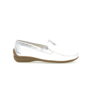Gabor California Mocassin White Silver Side Wide RS - 4609050
