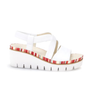 Gabor Contract Wedge Sandal White Side RS - 4463120