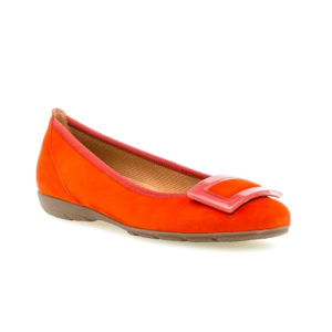 Gabor Riband Mango Orange Pump Shoe FrontRS - 4416415
