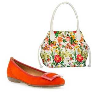 Orange Pump & Floral Gabor Bag Twinset