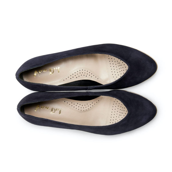 Van Dal Ariah Midnight Navy Summer Suede Slip on Ladies Shoe Pair Above - 2662 4102