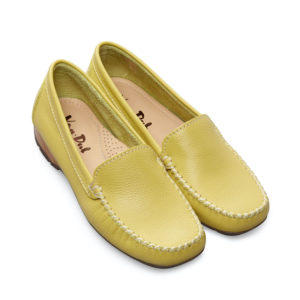 Van Dal Sanson Citron Yellow Slip on Ladies Casual Loafer Pair Front - 2156 3501
