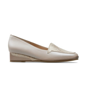 Van Dal Verona III Beige Sesame Ladies Wedge Shoe Side - 0639 2301