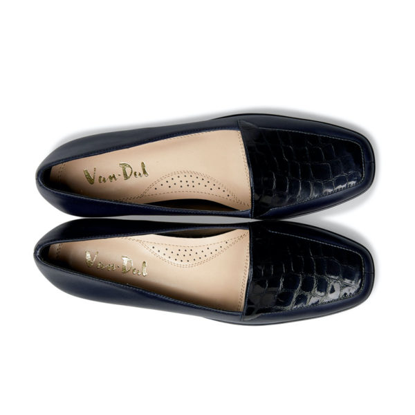Van Dal Verona III Midnight Navy Ladies Wedge Shoe Pair Above - 0639 4101