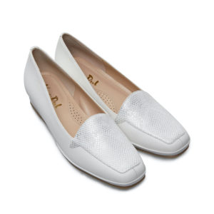 Van Dal Verona III White Ladies Wedge Shoe Pair Front - 0639 0005