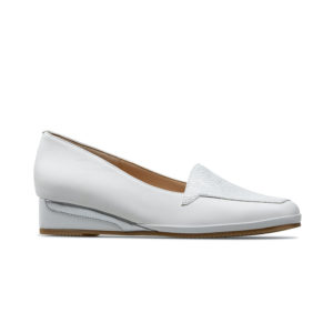 Van Dal Verona III White Ladies Wedge Shoe Side - 0639 0005