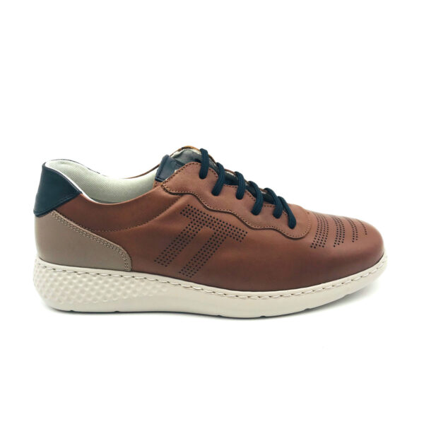 Notton Libano Brown Casual Mens Shoe Side - 151