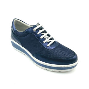 Notton Navy Ladies Casual Shoe Front - 2833