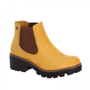 Rieker-Ladies-Yellow-Chunky-Sole-Slip-On-Ankle-Boot