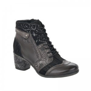 Remonte Ladies Black Ankle Heeled Boot D5470-45