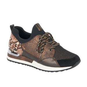 Remonte Ladies Casual Brown Multi Fashion Trainer R2503-24