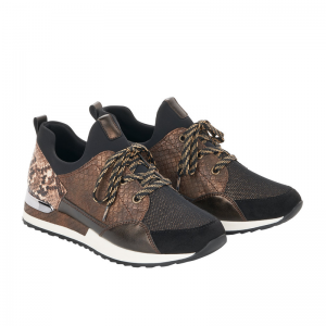 Remonte Ladies Casual Brown Multi Fashion Trainer Pair R2503-24